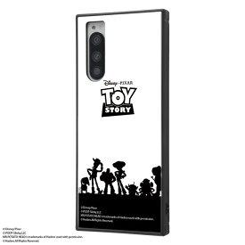 Xperia5 ケース スクエア トイストーリーキャラクター 耐衝撃ハイブリッドケース KAKU トイ・ストーリー / シルエット