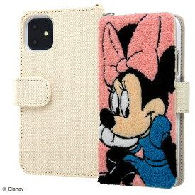iphone11 ケース 手帳型 ディズニー キャラクター 手帳型ケース サガラ刺繍 / ミニー アイフォン11 カバー