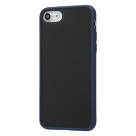 iPhone SE2 ケース 耐衝撃マットハイブリッドケース Sarafit / ダークネイビー アイフォンse 第2世代 iphone8 iphone7 カバー キャラクター