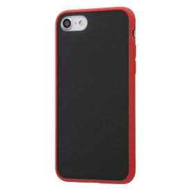 iPhone SE2 ケース 耐衝撃マットハイブリッドケース Sarafit / レッド アイフォンse 第2世代 iphone8 iphone7 カバー キャラクター