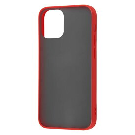 iPhone12 mini ケース 耐衝撃マットハイブリッドケース Sarafit / レッド アイフォン12ミニ カバー ハイブリッド iphone12mini