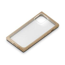 【P10倍】 iPhone12mini ケース ガラスタフケース スクエアタイプ ベージュ