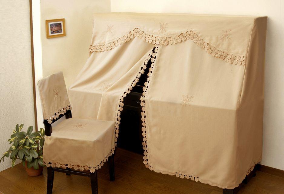アップライト ピアノカバー レース シンプル 上品 ニーナ (フルカバー) ※椅子カバーなし。【smtb-kd】 ※ネコポス便不可です。【インテリア】