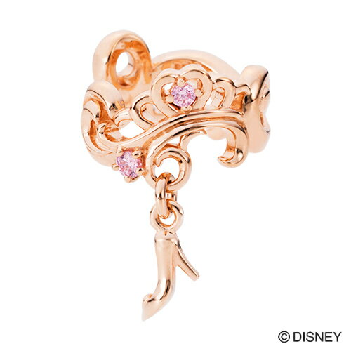 【期間限定50%OFF】即日発送 Disney Series ディズニー/シンデレラ/ガラスの靴 イヤーカフ ピンク オリジナルBOX DI500PG