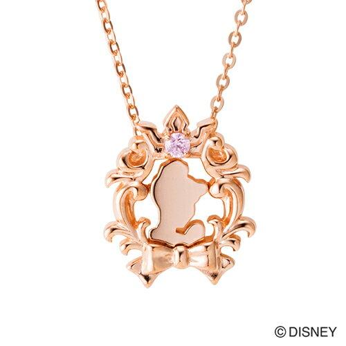【期間限定50%OFF】即日発送 Disney Series ディズニー/シンデレラ/フェイスシルエット ネックレス ピンク DI503PG