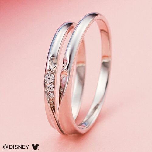 ディズニー マリッジリング ミッキー&ミニー/結婚指輪 マリッジリング 3〜23号 シェアハート ペアリング DIPR001L&DIPR001M
