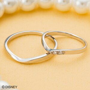 ディズニー マリッジリング「美女と野獣」結婚指輪 マリッジリング 3〜23号 ペアリング DIPR003L&DIPR003M white clover カップル