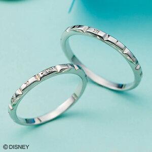 ディズニー マリッジリング「シンデレラ」結婚指輪 マリッジリング 3〜23号 時計デザイン ペアリング DIPR006L&DIPR006M white clover カップル
