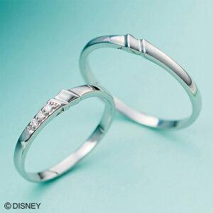 ディズニー マリッジリング「シンデレラ」結婚指輪 マリッジリング 3〜23号 階段デザイン ペアリング DIPR007L&DIPR007M white clover カップル