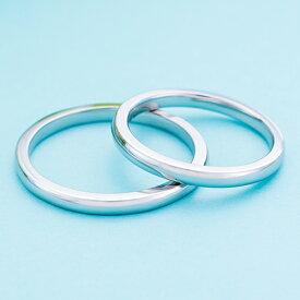結婚指輪 マリッジリング 3〜21号 プラチナ950 Pt950シンプル 甲丸 ストレートデザイン ペアリング 2mm WPR001&WPR001