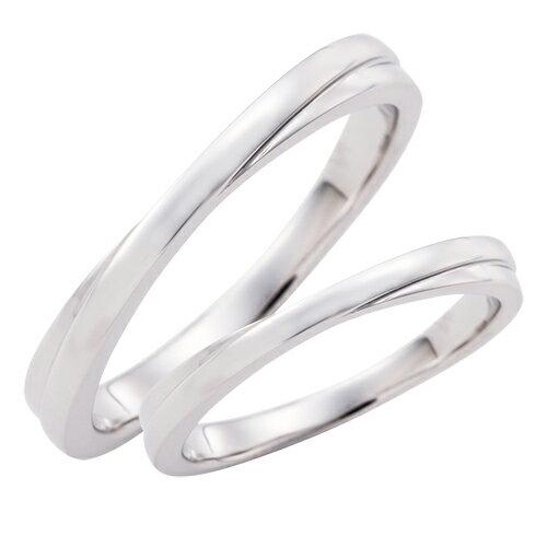 結婚指輪 マリッジリング 3〜21号 プラチナ950 Pt950 クロスデザイン ペアリング WPR245&WPR245