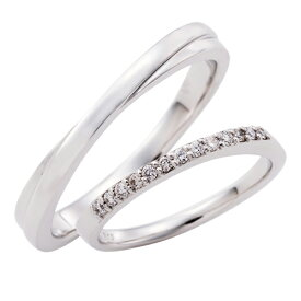 ペアリング プラチナ 3〜21号 刻印無料 カップル 2本セット 誕生石 ダイヤモンド マリッジリング 結婚指輪 エタニティ Pt950 細身 WPR258&WPR245 white clover クリスマス 記念日 誕生日 ホワイトデー プレゼント