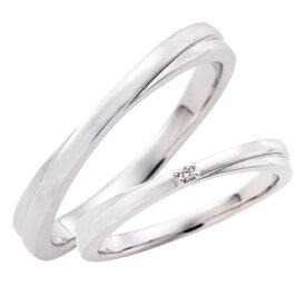 ペアリング プラチナ 3〜21号 刻印無料 カップル 2本セット 誕生石 ダイヤモンド マリッジリング 結婚指輪 シンプル Pt950 細身 WPR259&WPR245 white clover クリスマス 記念日 誕生日 ホワイトデー プレゼント