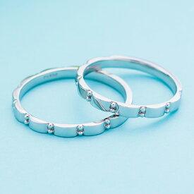 結婚指輪 マリッジリング 3〜21号 プラチナ950 Pt950 シンプル スタッズ ストレートデザイン ペアリング WPR301&WPR301