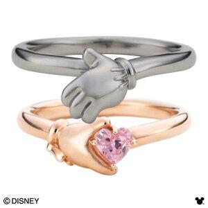 【Disney Series】ディズニー/ミッキー&ミニー/ハンド ハート ペアリング 指輪 ピンク&ブラックDI009LPG&DI009MBK white clover カップル