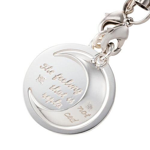 ペアストラップ 「変わらない気持ち」メッセージ ダイヤモンド ムーン 月 シルバー925 WST153&WST154