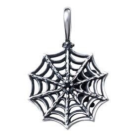 蜘蛛の巣 スパイダー 誕生石 シルバー925 いぶし トワル メンズネックレス ペンダント WAW-002 送料無料 代引き手数料無料