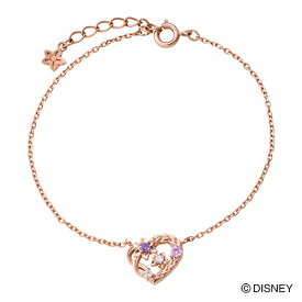 『塔の上のラプンツェル』 ラプンツェル ブレスレット ディズニー プリンセス Disney シルバー925 ハート 花 編み込み ピンク DI801PG クリスマス white clover
