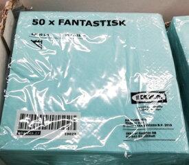 5の倍数日は楽天カードエントリーで5倍/即納【IKEA】イケア通販【FANTASTISK】紙ナプキン 50ピース(40×40cm)全6色