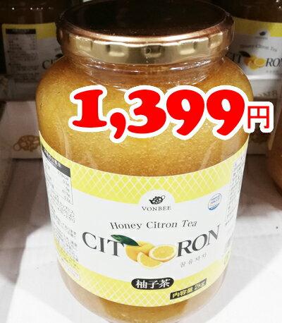 即納★【COSTCO】コストコ通販 【VONBEE】韓国直輸入 柚子茶(ゆず茶) 2kg入り はちみつ入り