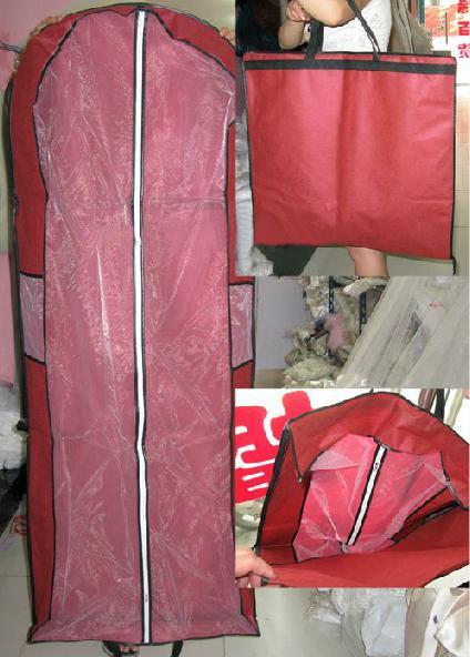 全3色 ドレスカバー 衣類カバー 衣装カバー 移動 持ち運び 保管 収納 ロング 海外 ウエディングドレス パーティードレス ショート ミニ ワンピース コート スーツ 服 衣類 レディース メンズ レッド 赤 ブラウン 茶色 ワインレッド 【あす楽対応】