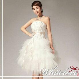 7f9f729ff13de ウエディングドレス ミニ ミニドレス 結婚式 花嫁 二次会 ドレス ウェディングドレス 披露宴 新婦 挙式 パーティー