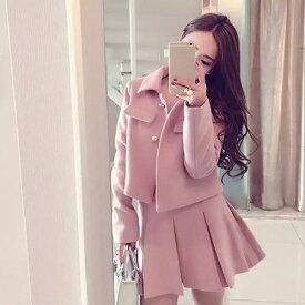 {最大8%OFFクーポン配布中} レディース 上下2点セット ジャケット スカート ミニ丈 セットアップ カジュアル キュート 可愛い フェミニン きれいめ 上品 エレガント おしゃれ お出かけ オフィス お呼ばれ ピンク S M L XL 2XL 大きいサイズ
