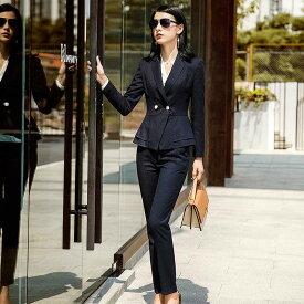 レディース 3点セット ジャケット ブラウス スカート パンツ 長袖 セットアップ フォーマル 可愛い フェミニン きれいめ 上品 エレガント おしゃれ お出かけ オフィス お呼ばれ ホワイト ネイビー S M L XL 2XL 3XL 大きいサイズ 送料無料
