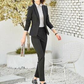 レディース 3点セット ジャケット パンツ スカート 長袖 セットアップ フォーマル キュート フェミニン きれいめ 上品 エレガント おしゃれ お出かけ オフィス グレー ネイビー ブラック S M L XL 2XL 3XL 4XL 5XL 大きいサイズ 送料無料