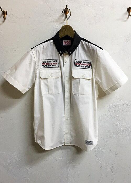 BUENA VISTA (ブエナビスタ) ABSINTHE WORK shirt-WHITE