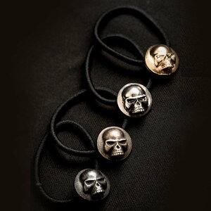 REVI CAST MADE レビキャストメイド スカルヘアゴム ブレスレット 腕輪 アクセサリー ドクロ コンチョ シルバー ゴールド ブラック ロック パンク
