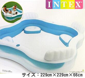 INTEX 사제 수영 센터 패밀리 라운지 풀 56475 (229cm×229cm×66cm)