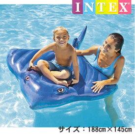 【送料無料】INTEX社製 スティングレイライドオン(188cm×145cm) 57550