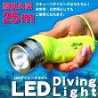 25m防水LEDダイビングライト■防水LEDライト