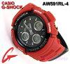 凱西歐 g-休克 / 鐘錶的類比-數位 (AW 591RL-4)