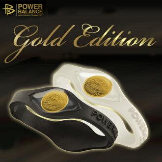 功率平衡矽手鐲黄金版本NEW!GOLD EDITION正規的物品power balance清單帶黄金全息圖05P03Dec16