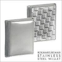 スチュワートスタンドステンレススチール製3つ折り財布TF