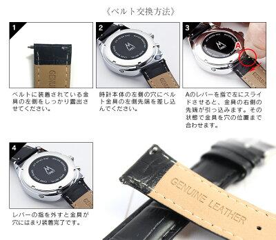 Timeet牛革腕時計ベルト20mm牛革ベルトクロコ型押しネイビーブラックブラウンベルト交換ピン幅約2cmイージーセットアップ腕時計ベルト20mmいつもショップ