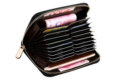 縦型カード入れ[DL-90333]カードカード入れカードケースカード財布財布メンズ大容量ラウンドファスナー縦カード収納革クレジットじゃばらレザーカードホルダーコンパクトシンプルいつもショップ