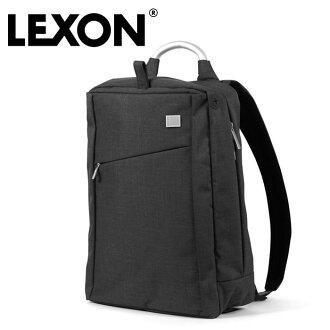 LEXON單人背包LN313WN列克損失包包人男性男人紳士個人電腦筆記型電腦法國佛輕的保證分類隔開黑黑色商務出差工作人砰一聲拉父親節禮物禮物漂亮的名牌排名