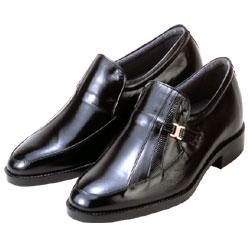 【送料無料】背が高くなる靴 カンガルー革モカスリッポン(ブラック) 【No635】5cmUP 脚を長くスマートに…ビジネスもアップシューズでお洒落に!! 敬老の日 ギフト おすすめ 健康 疲れにくい おしゃれ ブランド 人気 ランキング メンズ 介護 05P03Sep16