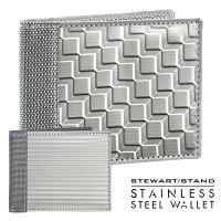 スチュワートスタンドステンレススチール製2つ折りウォレットBF
