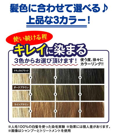 利尻昆布エキス配合昆布の白髪用カラートリートメント