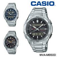カシオ電波ソーラー腕時計ウェーブセプターWVA-M650D