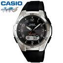 【送料無料】CASIO 腕時計 ゴールド 電波時計 マルチバンド6 腕時計 カシオ スポーティーデザイン ウェブセプター WAVE CEPTOR 電波 ソーラー 電波腕時計 カシオ ソーラー電波時計