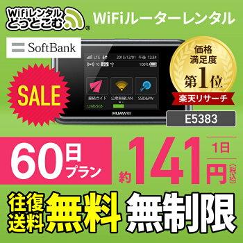 SoftBankソフトバンクE5383TPocketWiFi2ヶ月レンタル