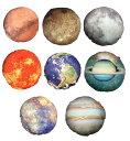 コンプリートしたくなる 惑星 クッション 太陽系 地球 月 火星 水星 木星 金星 土星 太陽 丸型 抱き枕 枕 宇宙 コスモ 本物衛生画像 宇宙スペース 雑貨 高品質プリント グッズ 生地