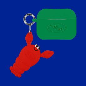 Airpods Pro Case & Keyring SET Green Case & Lobster Keyring AirPods Pro Case ケース シリコン エアーポッズ プロ エアーポッツプロ 保護 おしゃれ かわいい 可愛い かっこいい ブランド おすすめ キーホルダー キーリング