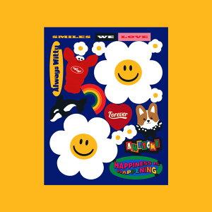 Removable Deco Sticker - Wiggle Friends ステッカー シール デコ デコラ かわいい雑貨 ウィグルウィグル wigglewiggle