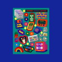 Removable Deco Sticker - Retro World ステッカー シール デコ デコラ かわいい雑貨 ウィグルウィグル wigglewiggle